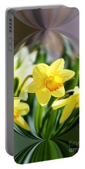 Spring Daffodils   Portable Battery Charger by Tina  LeCour