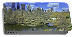 Springtime In Central Park Portable Battery Charger by Allen Beatty