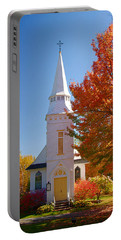 St Matthew's In Autumn Splendor Portable Battery Charger