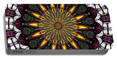 Portable Battery Charger featuring the photograph Stained Glass Kaleidoscope 1 by Rose Santuci-Sofranko