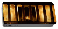 Statue Of Abraham Lincoln Portable Battery Charger by Panoramic Images