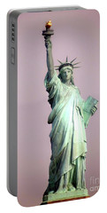 Statue Of Liberty Portable Battery Charger by Ed Weidman