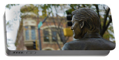 Statue Of Us President Bill Clinton Portable Battery Charger
