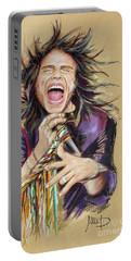 Steven Tyler  Portable Battery Charger by Melanie D