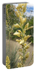 1 String Flowers    Photographed Las Vegas May 2014 Portable Battery Charger by Navin Joshi
