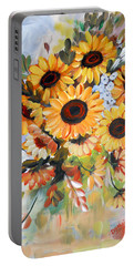 Sunflowers Portable Battery Charger by Dorothy Maier