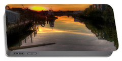 Sunrise On The Petaluma River Portable Battery Charger