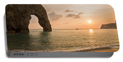 Sunset At Durdle Door Portable Battery Charger