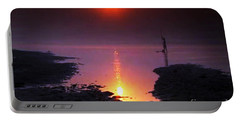 Sunset At Ganga River In The Planes Of Provinces Portable Battery Charger