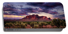 Sunset At The Superstitions  Portable Battery Charger by Saija  Lehtonen