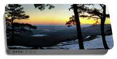 Sunset Atop Snowy Mt. Nebo Portable Battery Charger by Jason Politte