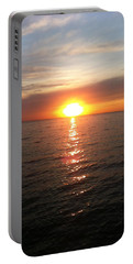 Sunset On The Bay Portable Battery Charger by Tiffany Erdman