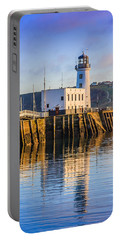 Sunset Over Scarborough Lighthouse Portable Battery Charger