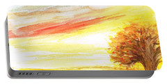 Portable Battery Charger featuring the painting Sunset by Teresa White