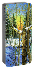 Supplication-psalm 28 Verse 2 Portable Battery Charger by Barbara Jewell
