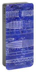 Surfboard Patent Drawing 1950 Blue Portable Battery Charger