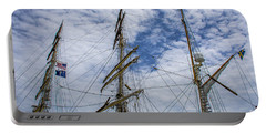 Portable Battery Charger featuring the photograph Tall Ship Mast by Dale Powell