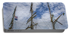 Tall Ship Three Mast  Portable Battery Charger by Dale Powell