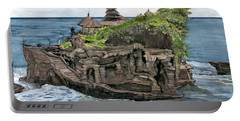 Tanah Lot Temple Bali Indonesia Portable Battery Charger