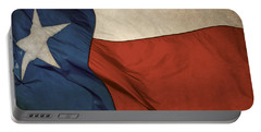 Rustic Texas Flag  Portable Battery Charger