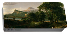 The Course Of Empire The Arcadian Or Pastoral State Portable Battery Charger