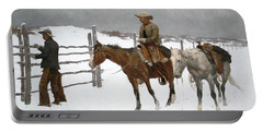 The Fall Of The Cowboy Portable Battery Charger