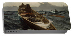 Portable Battery Charger featuring the photograph The Fog Warning by Winslow Homer