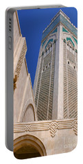 Portable Battery Charger featuring the photograph The Hassan II Mosque Grand Mosque With The Worlds Tallest 210m Minaret Sour Jdid Casablanca Morocco by Ralph A  Ledergerber-Photography