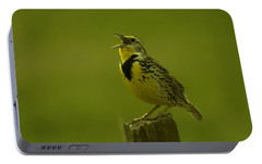The Meadowlark Sings Portable Battery Charger by Jeff Swan