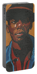 Portable Battery Charger featuring the painting The Most Beautiful Boogie Man by Rachel Natalie Rawlins