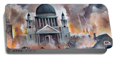 Portable Battery Charger featuring the painting The Pursuit by Ken Wood