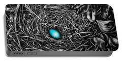The Robin's Egg Portable Battery Charger by Craig T Burgwardt