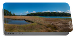 Thompson Island In Maine Panorama Portable Battery Charger by Michael Ver Sprill