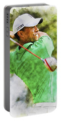 Tiger Woods Hits A Drive  Portable Battery Charger