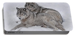 Timber Wolf Pair Portable Battery Charger