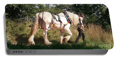 Tiverton Barge Horse Portable Battery Charger by John Williams