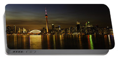 Toronto Evening Sky Line Panorama Portable Battery Charger by Peter v Quenter