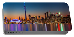 Toronto Skyline At Dusk Portable Battery Charger