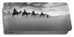 Tourists Riding Camels Portable Battery Charger