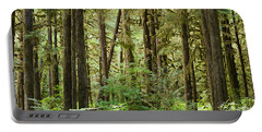 Trees In A Forest, Quinault Rainforest Portable Battery Charger