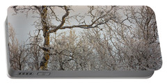 Trees In The Frozen Landscape, Cold Portable Battery Charger