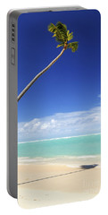 Tropical Beach And Palm Tree Portable Battery Charger
