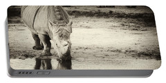 Two White Rhinos  Portable Battery Charger