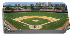 Usa, Illinois, Chicago, Cubs, Baseball Portable Battery Charger by Panoramic Images