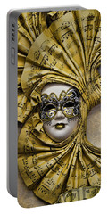 Venetian Carnaval Mask Portable Battery Charger by David Smith