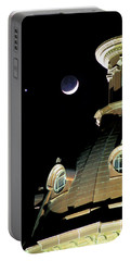 Venus And Crescent Moon-1 Portable Battery Charger by Charles Hite