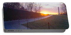 Vietnam Veterans Memorial At Sunrise Portable Battery Charger by Panoramic Images