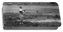Portable Battery Charger featuring the photograph Vintage Fly Fishing by Ron White