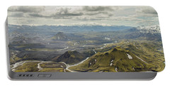 Volcano Valley In Iceland Portable Battery Charger