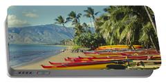 Kenolio Beach Sugar Beach Kihei Maui Hawaii  Portable Battery Charger